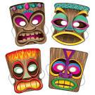 HD Tiki Mask ATC and Mail Art