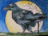 ATC: Crow Drawing