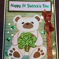 St. Patrick's Day happy handmade postcard