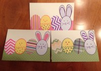 Happy Easter decorated envelope and small surprise
