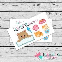 QUICK! One Stamp Swap! Sticker Sampler Sheets