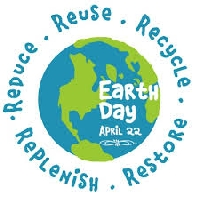 Earth day recycle/upcycle post card - USA