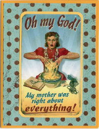 Swap-bot swap: Vintage Mothers Day ATC