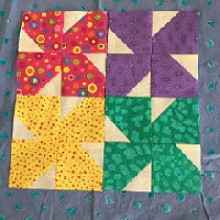 QNT blossom blocks PURPLE prints