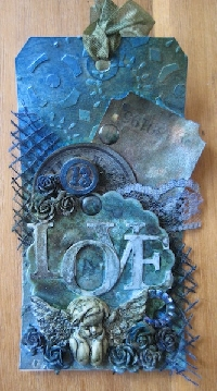 WIYM: Mixed Media Art Tag - Birds