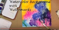 YTPC:  Watercolor Background with Watermarks