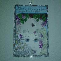 Handmade tarot card postcard #4