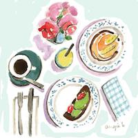 Illustrated Food or Drink Postcard Swap #3