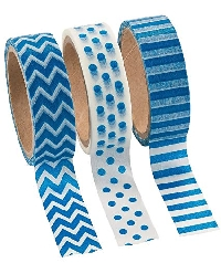WOW: Blue Washi Tape Samples