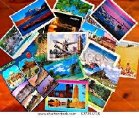 Colorful Touristy Postcard - US Only