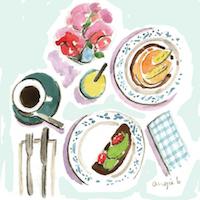 Illustrated Food or Drink Postcard Swap #8