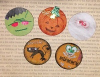 9LP~Mini Pocket with Halloween Coins