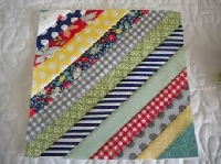 FF:8.5 inch - (4)String quilt blocks #12