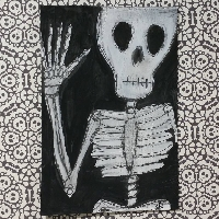 Monster Mania Mail Art Series: #1 Skeleton