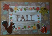 Handmade Autumn Postcard #2
