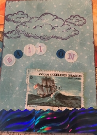 Sourpuss and boring Postage stamp  ATC  challenge