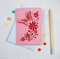 Butterfly Note Card INTL Newbie Frdly