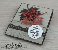 Autumn Decorated Matchbook Notepad-USA