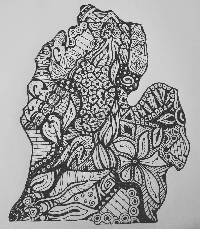 ZENTANGLE or DOODLE  my STATE! #2