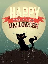 Black Cat Halloween Card Swap - USA