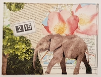 CC: Scavenger Hunt Collage Postcard 1