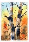 Free Theme Watercolor ATC