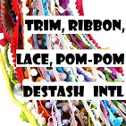 Trim, Ribbon, Lace, Pom-pom Destash - INTL