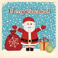 Christmas Card -Santa-USA