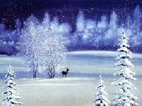 Christmas Card -SNOW SCENE-USA