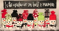 Christmas Card -SNOWMAN-USA