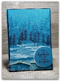Brenda's Winter Scene Card Swap