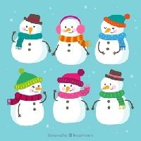 Recycled Christmas Card Postcard ~ Snowman