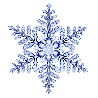 Recycled Christmas Card Postcard ~ Snowflake
