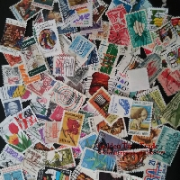 MZA: 50 used postage stamps-USA only