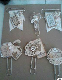 5 Altered paper clips for Journals