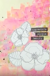 YTPC:  Art Journal Page #13: Simple Beauty