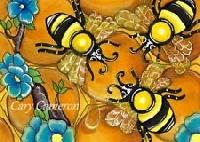 Bumble Bee Card, ATC, Mail Art & Flat Surprise