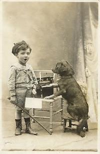 Vintage Children with Pets Art Deco ♡