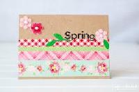 WTL: Spring Washi Card Swap