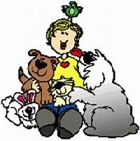 CFC: April Dishcloth ~ Talk about our Pets!