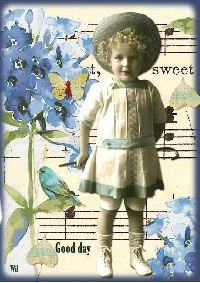 AACG: Spring ATC with Vintage Children