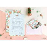 3 Blank Letter Sets in an Envie USA #6
