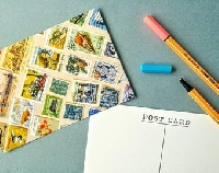 Recycled postage stamps on PC # 3