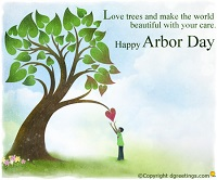 Plant a tree on  my profile- arbor day decoration