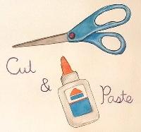 Cut n Paste DIY Postcard - USA/Canada