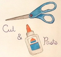 Cut n Paste DIY Postcard - International
