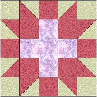 QnT CROSS in STAR block PURPLE