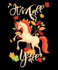 🦄Unicorn ATC Series USA- 6 of 9: Fall Unicorn!