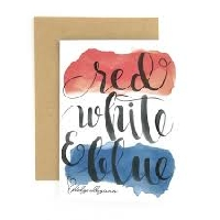 Red White and Blue/ 4 th of July card