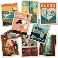 QUICK 5 Postcards in an Envie swap #9 USA